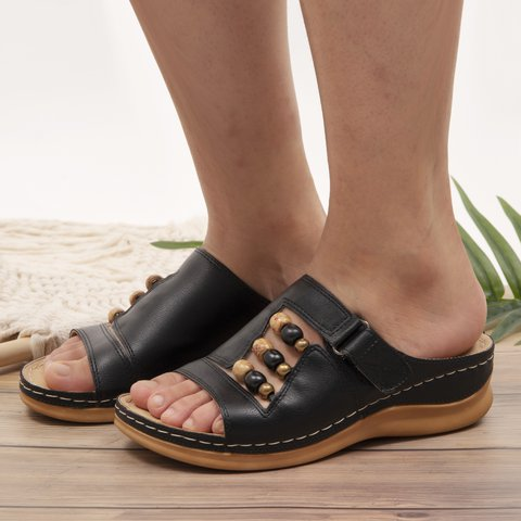Leather Summer Slippers