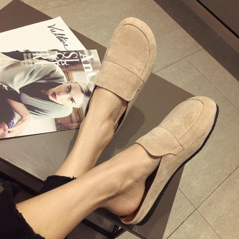 Women Slide Backless PU Round Toe Daily Spring Sandals