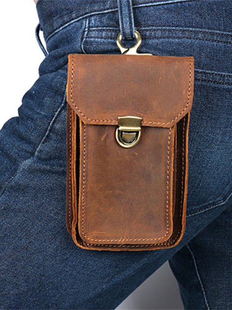 Unisex Vintage Phone Purse Multi-pocket Snap Wallets