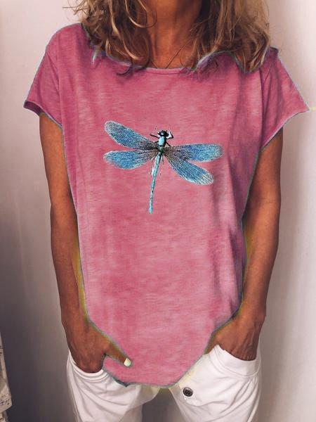 Cotton Short Sleeve Animal Casual Shirts & Tops