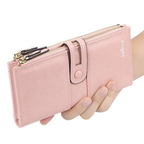 Women PU Multi-function Card Zipper Clutches