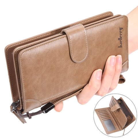 Women Mullti-function PU Card Zipper Handbags