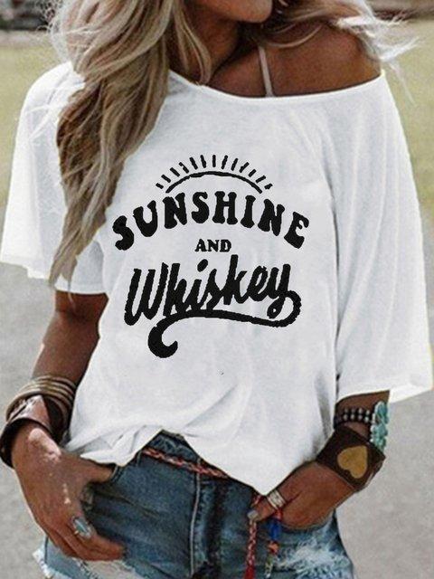 Graffiti Printed Casual Short Sleeve T-shirt