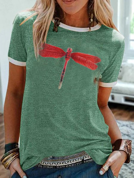 Short Sleeve Cotton O-Neck Shirts & Tops