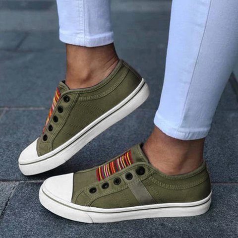 Women Slide Athletic Canvas Outdoor Sneakers