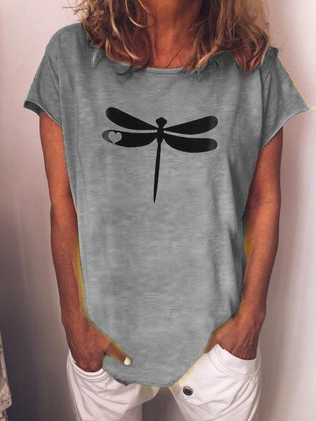 Cotton O-Neck Short Sleeve Shirts & Tops