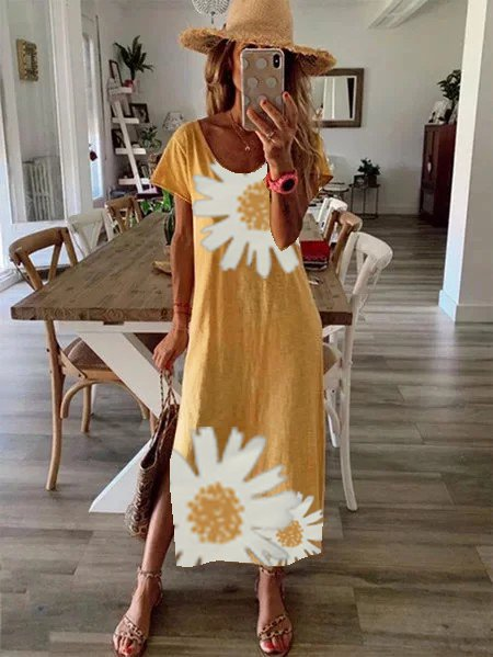 Everyday Women's Dress Casual Daisy Print Dress