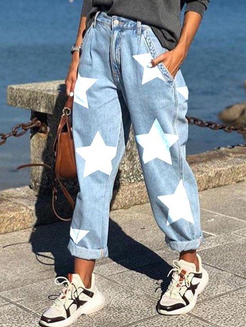 Light Blue Denim Cocoon Vintage Pants