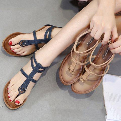 Pu Zipper Plus Size Wedge Heel Sandals