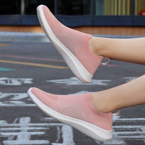 Mesh Slip-On Flat Heel Large Size Sneakers