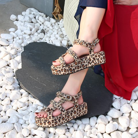 Summer Pu Printed Sandals