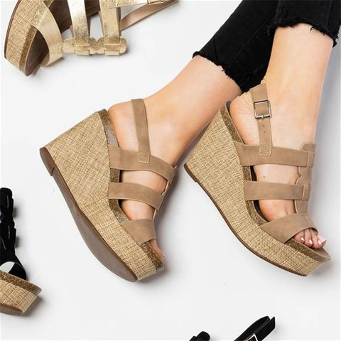 Date Artificial Leather Sandals