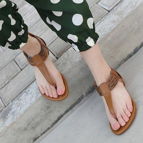 Flip-flops Zipper Low Heel Women Gladiator Sandals
