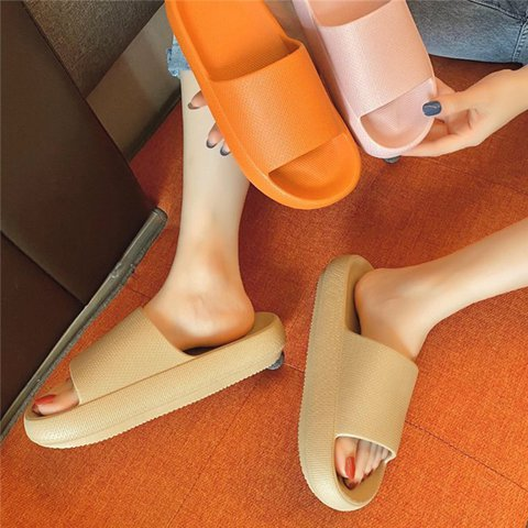 Women Slip-On Platform Solid Cacual Home Slippers