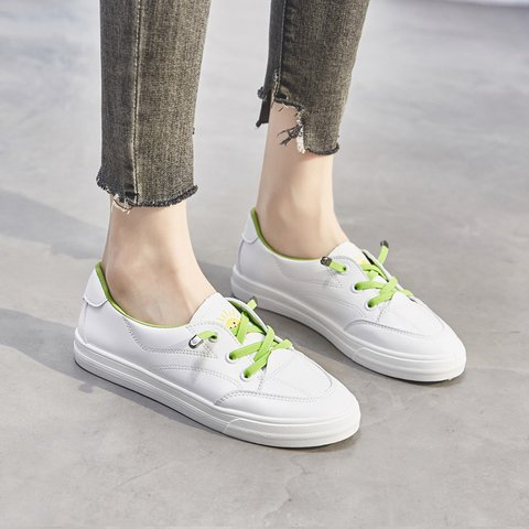 Sunflower Lace-up Simple Sneakers