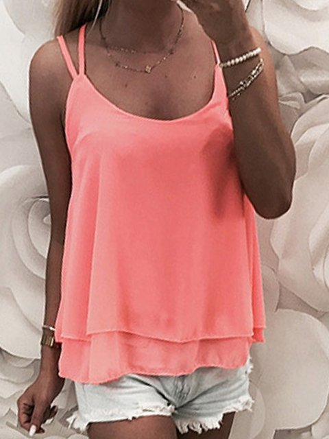 Simple Casual Bottoming Vest Camisole
