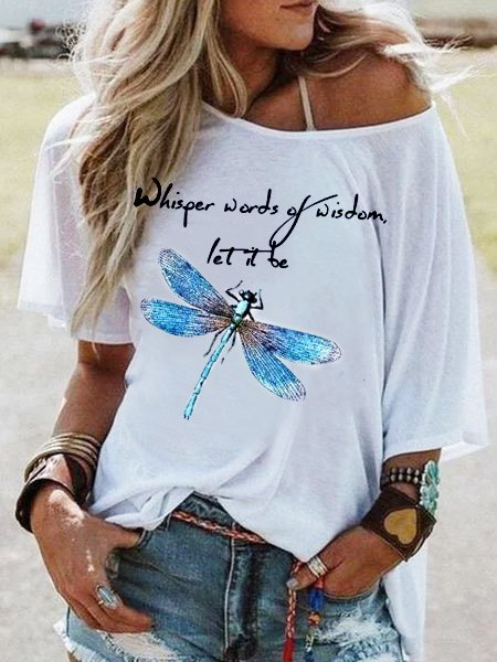 White Cotton Printed Short Sleeve Shirts & Tops