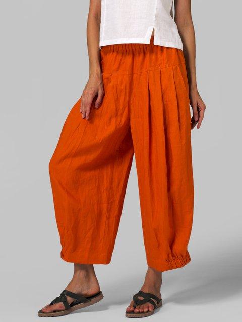 Pocket Casual Pants Loose Wide Leg Pants
