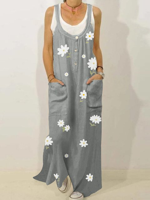 Holiday Swing Floral Maxi Dresses