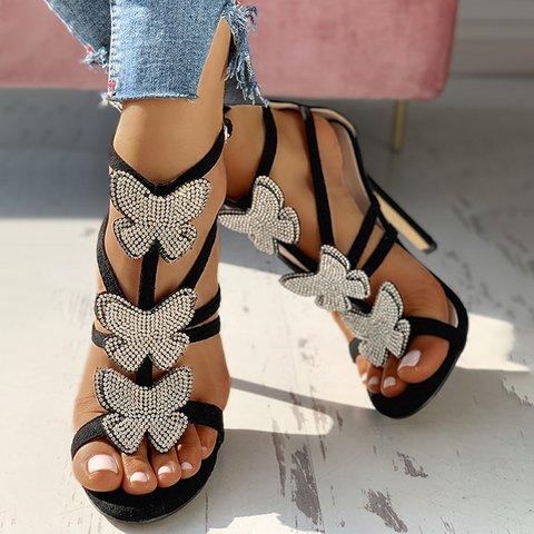 Butterfly Rhinestone Gorgeous Stiletto Heels