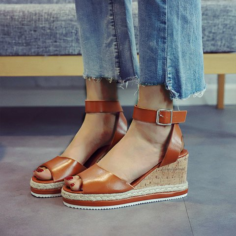Casual Button Sandals
