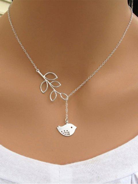 Fashion Bird Leaf Necklace All Season Alloy Jewelry