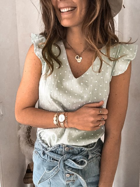 Cotton-Blend Casual Shirts & Tops