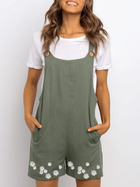 Sleeveless Cotton One-Pieces