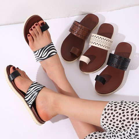 Slip-On Flat Heel Flip-flops Plus Size Slippers