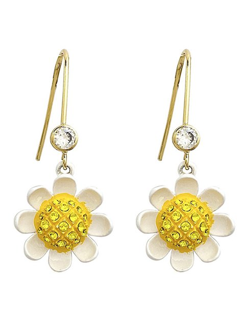 Women Alloy Daisy Earrings