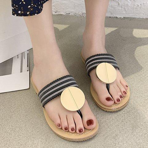 Women Slide Thong Sandals Flat Heel Casual Spring Shoes
