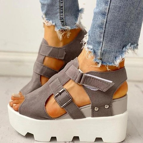 Women Comfy Sporty Platform Wedge