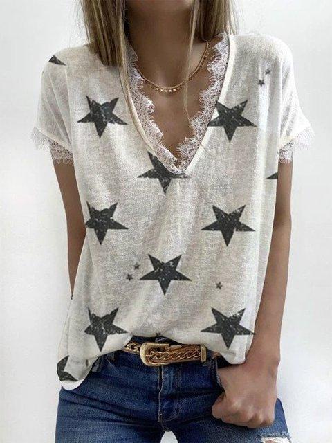 Basic V Neck Shirts & Tops