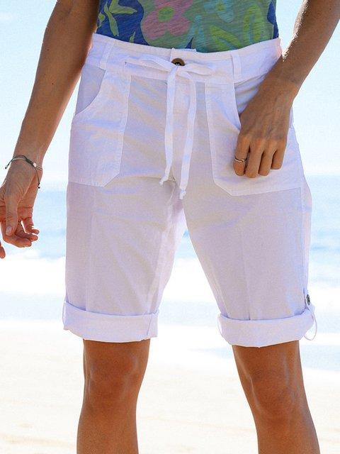 Women Pockets Shift Casual Summer Shorts