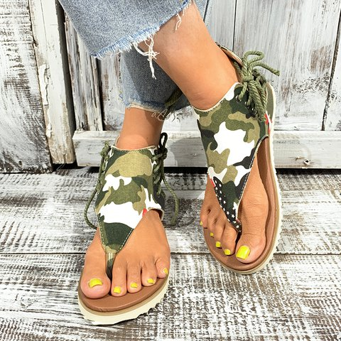 Women Comfy Lace Up Sandal Shoes