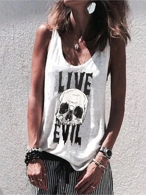 White Letter Casual Shirts & Tops