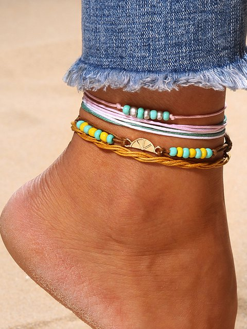 Beading Multi-layer String Anklets