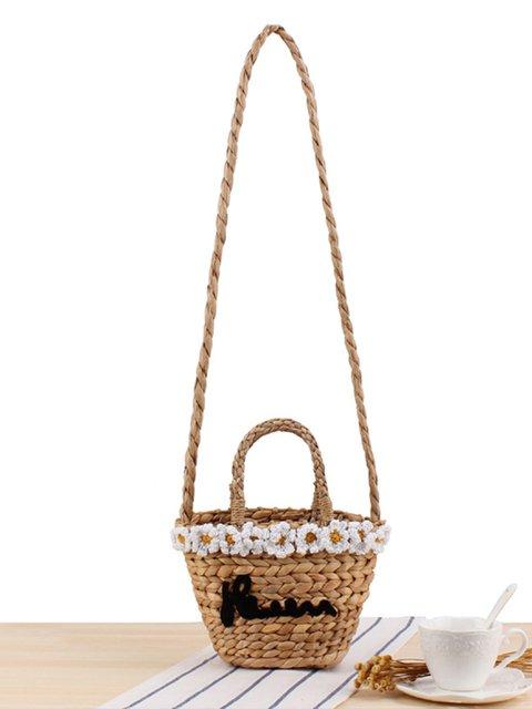 Straw Handbags Women Hand Beach Tote Woven Handle Shoulder Bags