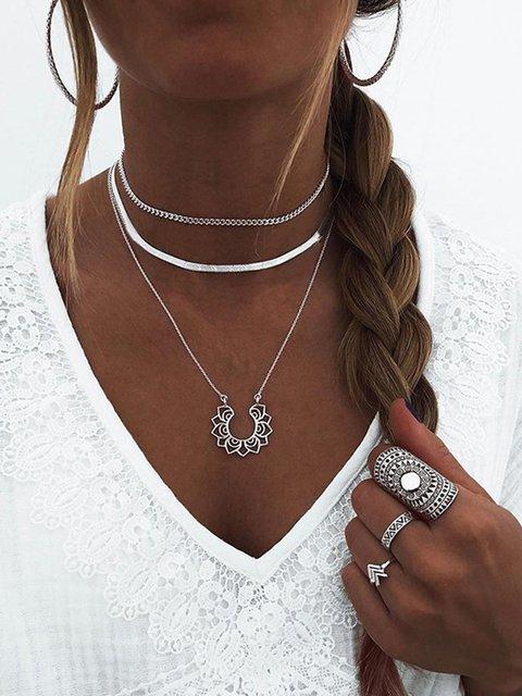 Alloy Multi-layer Fashion Necklaces