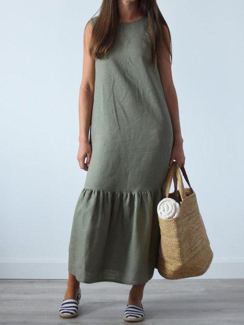 Casula Loose Sleeveless Linen Maxi Dress