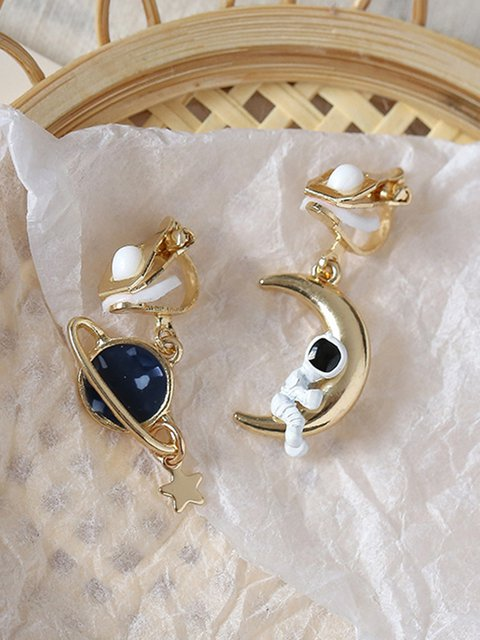 Women Alloy Lovely Earrings