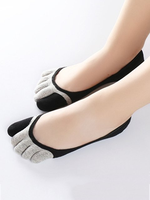 Cotton Lightweight Women Toe Socks