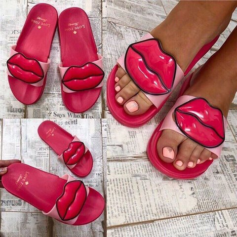 All Season Flat Heel Artificial Leather Slippers