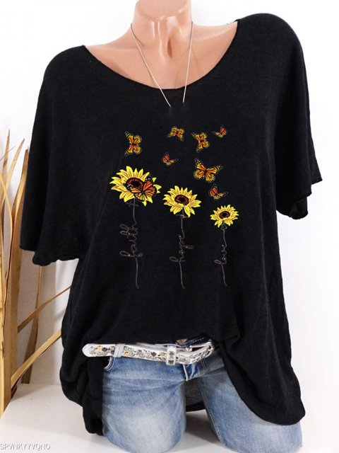 Casual Floral-Print Cotton-Blend Shirts & Tops