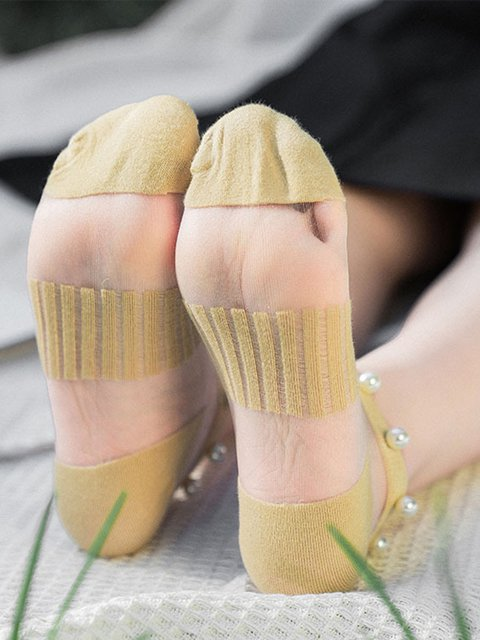 Women Stretchy Casual Cotton Pearl Summer Socks