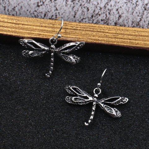Vintage Dragonfly Pendant Earrings