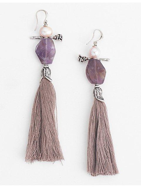 Women Alloy Tassel Drop Earrings