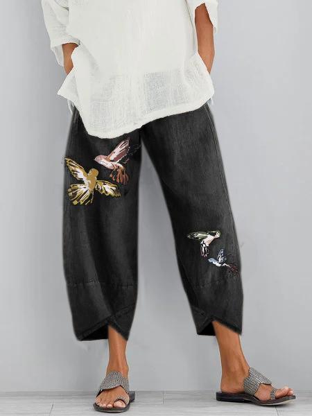 Vintage Printed  Pants