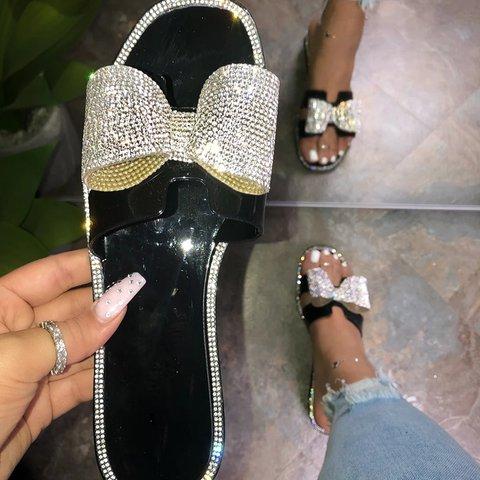 Summer Sparkling Glitter Slippers