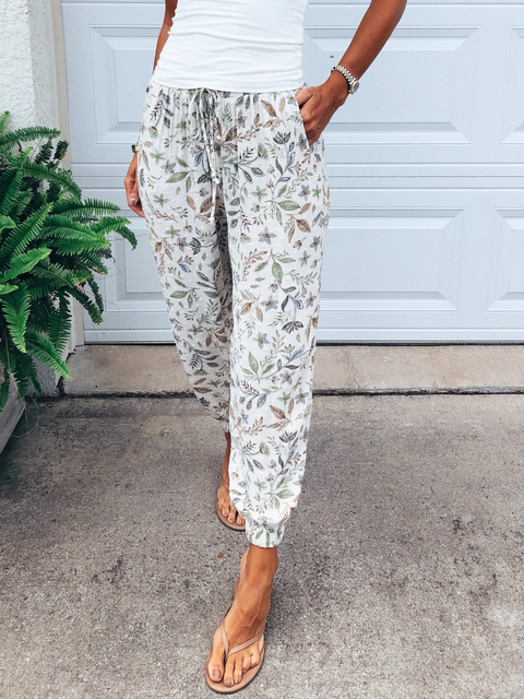 Plus size Printed Casual Pants